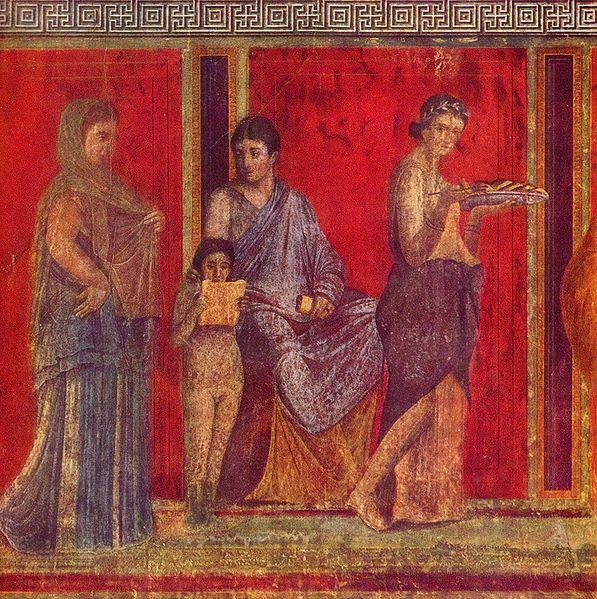 Dipinto parietale, Villa dei misteri, Pompei