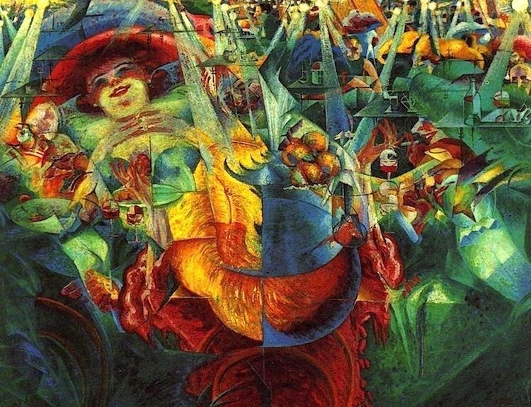 Umberto Boccioni, La risata, 1911