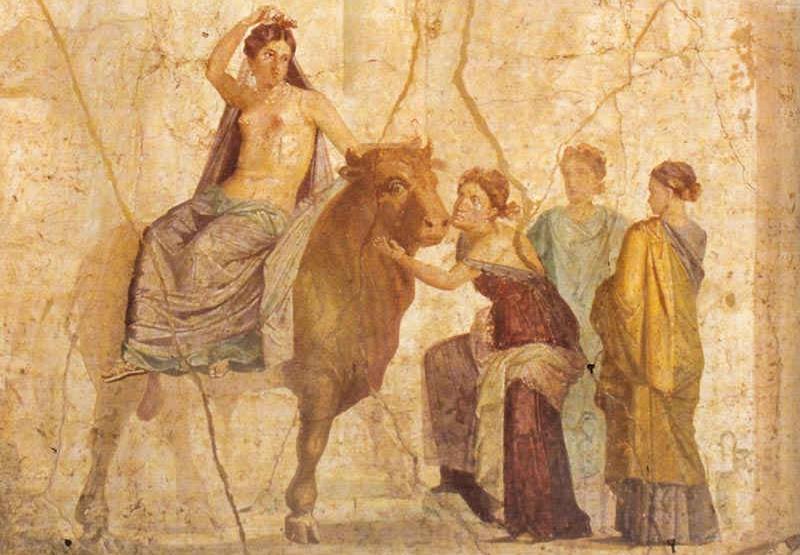 Dipinto parietale romano a Pompei, nella Casa di Giasone