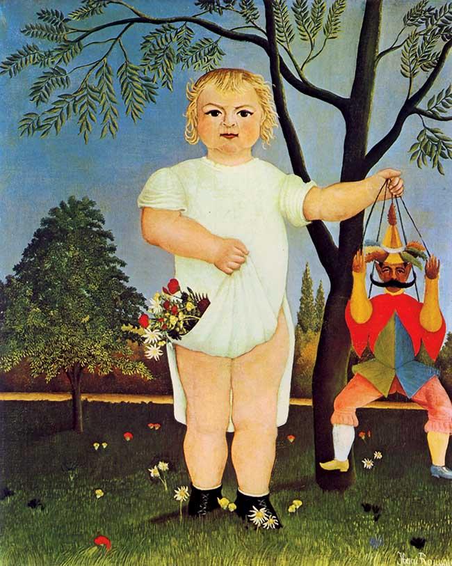 Henri Rousseau,  Il bambino col Pulcinella, 1903
