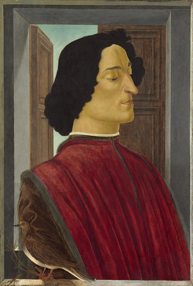 Botticelli, Ritratto di Giuliano de' Medici, 1478-1480, tempera su tavola, 75,6x52,6 cm,Washington, National Gallery of Art