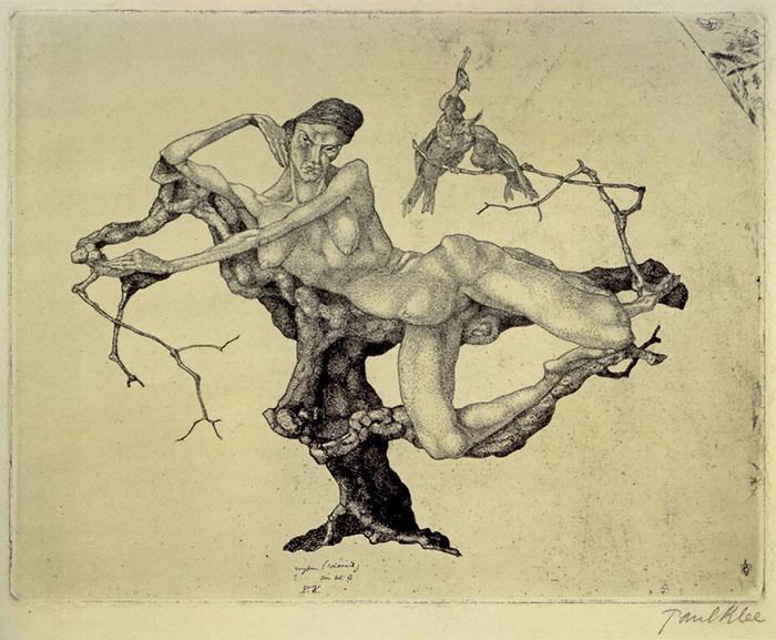 Vergine (sognante), opera eseguita da Klee poco dopo il rientro dal viaggio in Italia