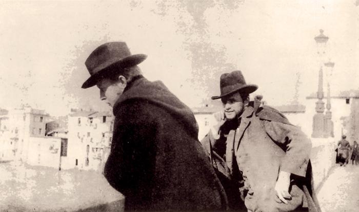 Klee (a sinistra)  con Haller a Roma, 1902