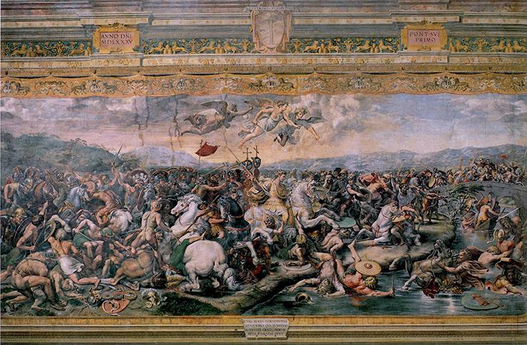 Raffaello e aiuti, La Battaglia di Ponte Milvio;