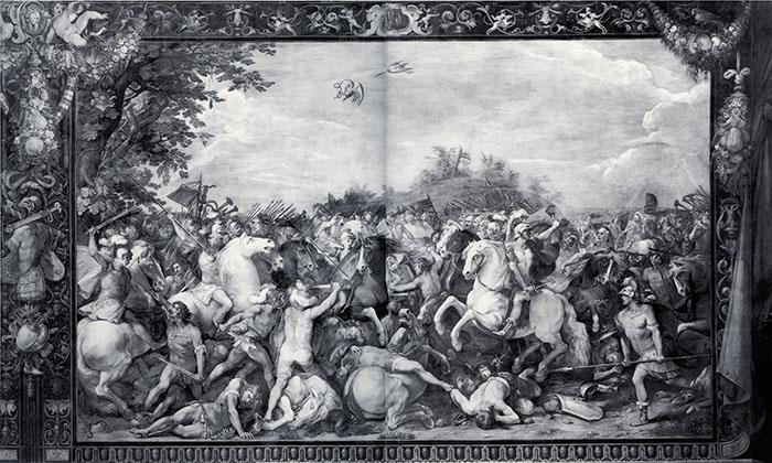 Cavalier d'Arpino, Battaglia tra Romani e Veienti