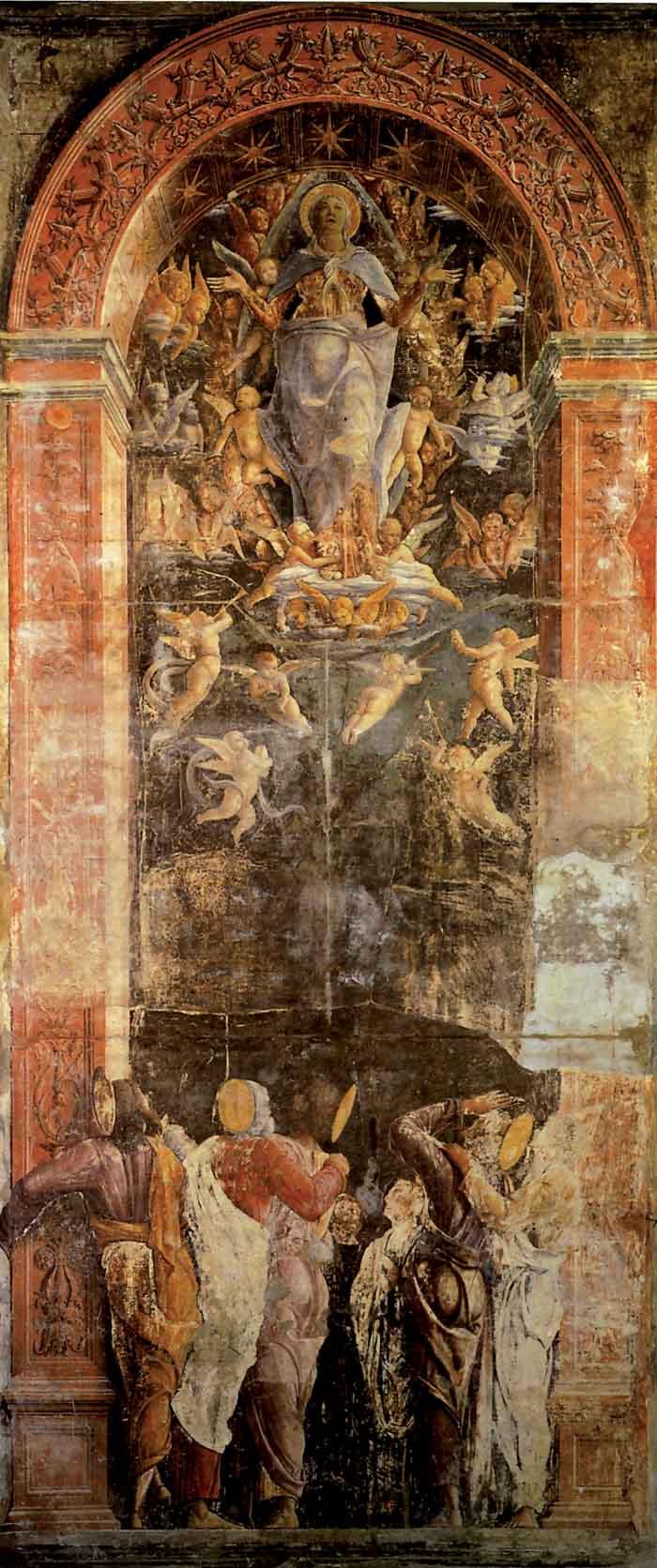 Assunzione della Vergine alla presenza degli apostoli. Padova, cappella Ovetari