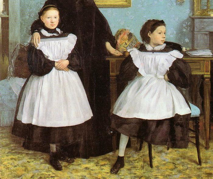 """Particolare delle due """"cuginette"""" di Edgar Degas"""
