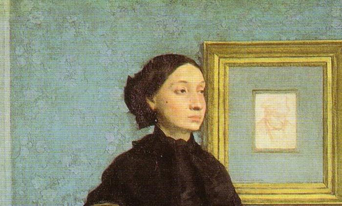 Particolare della zia dell'artista, Laura Degas