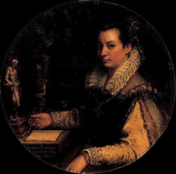 Lavinia Fontana, Autoritratto