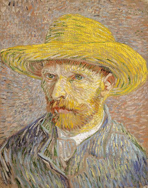 L'autoritratto di Van Gogh, nell'inverno 1887-1888 permette di osservare le linee con le quali tesse i dipinti. Linee che derivano dai tratteggi del disegno. Nella maggior parte dei casi, come i pittori giapponesi, Van Gogh utilizza il pennello di punta, in modo identico a quello con cui si usa una matita