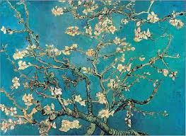 Il ramo di mandorlo in fiore, dipinto da Van Gogh, a Saint Remy, nel 1890, riflette l'attenzione del pittore per l'arte giapponese. Da notare il fatto che in questa opera non appaiono le chiazze di luce, che caratterizzano, generalmente l'impressionismo, ma ogni fiore è disegnato pittoricamente con tradizionali effetti chiaroscurali