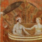Un bagno caldo, poi a letto insieme. E il pittore vìola la privacy della coppia