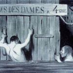 Le belle fanciulle spiate nell'acqua dal grande Daumier