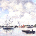 Eugène Boudin Bordeaux, Bateaux sur le Garonne (Bordeaux, Barche sulla Garonne), 1876 olio su tela, 49,5 x 73, 6 cm Columbus Museum of Art, Ohio: Museum Purchase, Derby Fund 1983.008