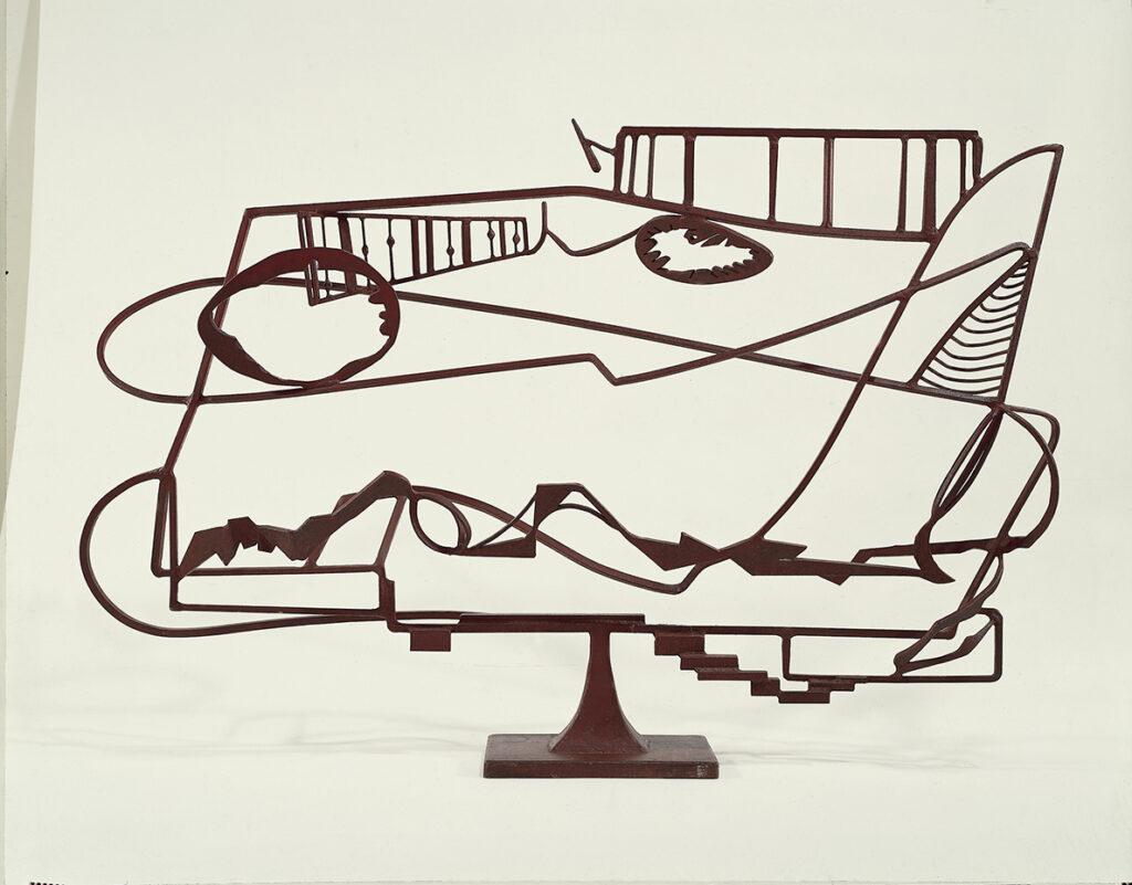David Smith Hudson River Landscape, 1951 Acciaio saldato dipinto e acciaio inossidabile, 126,8 x 187,3 x 42,1 cm Whitney Museum of American Art, New York Art © Estate of David Smith / Licensed by VAGA, N.Y.  Foto di Jerry L. Thompson