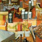 Renato Guttuso: I tetti di via leonina con rampicante 1962-64