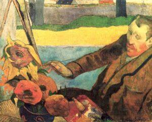 Paul Gauguin, <em>Van Gogh mentre dipinge girasoli</em>