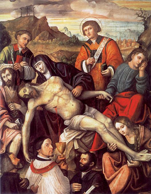 Paolo da Caylina il giovane, deposizione