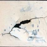 Shozo Shimamoto, Hole Showa 21, 1946, acrilico su carta, 32x41 cm