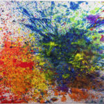 Shozo Shimamoto, Capri Certosa 4, 2008, acrilico su tela, 190x230 cm