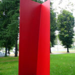 Grazia Varisco (1937), Duetto al quadrato, 1989, ferro