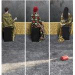 Maïmouna Patrizia Guerresi M-eating, Sokhne, 2013 trittico, stampa Lambda, 200 x 62 cm, 200 x 62 cm, 200 x 62 cm il nome M-eating © Maïmouna Guerresi © Maïmouna Guerresi