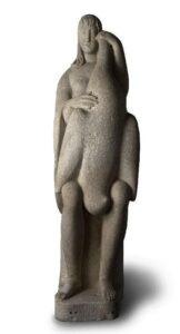 Arturo Martini, Leda, 1926, pietra, cm 185x53x70  Collezione privata