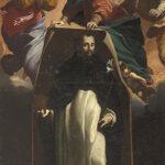 Carlo Bononi,  Il miracolo di Soriano  (L'immagine di san Domenico traslata a Soriano dalla Vergine accompagnata dalle sante Maddalena e Caterina), c. 1622, olio su tela, Ferrara, San Domenico
