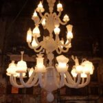Kiki&Joost Dining stories chandelier, 2013 vetro di Murano soffiato a mano, cm 140x140x280