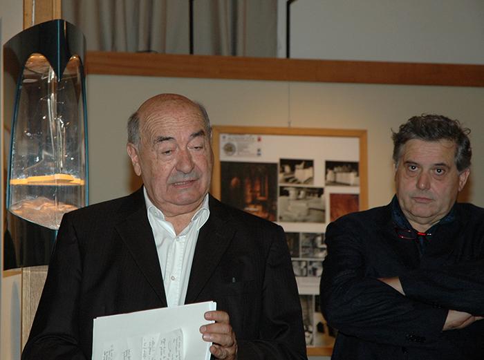 Marco Dezzi Bardeschi e Roberto Manescalchi durante la presentazione alla stampa dell'iniziativa