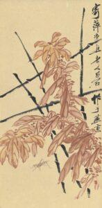 Insects of autumn di Qi Baishi (1864-1957), un acquerello stimato tra una cifra compresa tra i 30mila e i 50mila dollari, è stato aggiudicato a 230mila dollari.