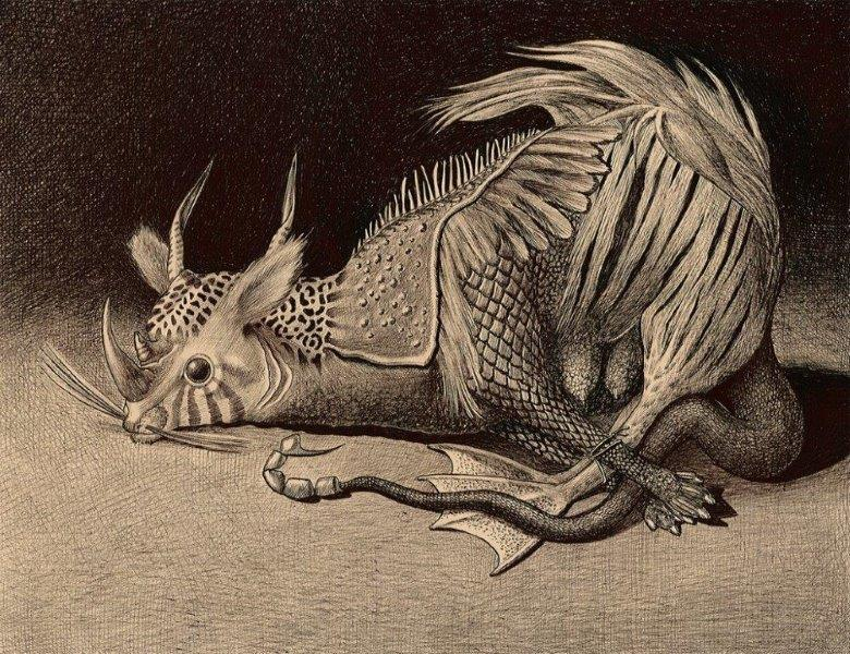 Marcello Carrà, Grande animale dionisiaco, penna biro su carta, 109x163 cm, 2013