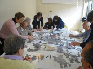 gruppo in laboratorio dopo visione opera Canova