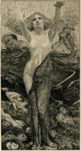 Max Klinger, Alla bellezza, 1890, acquaforte e acquatinta, 377 x 277 mm