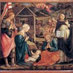 Filippo Lippi, Natività di Cristo fra San Giorgio e San Vincenzo Ferrer, Museo di Palazzo Pretorio, Prato
