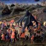 Zanobi Strozzi, Viaggio del mago Baldassarre a cavallo col suo seguito, Musée des Beaux-Arts, Strasburgo
