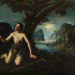 Zurbarán, San Giovanni Battista o La visione di san Giovanni Battista, 1659 Olio su tela, cm 119 x 196. Collezione privata