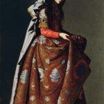 Zurbarán, Santa Casilda, c. 1635 Olio su tela, cm 171 x 107. Madrid, Museo Thyssen-Bornemisza