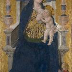 Rieti, Museo Civico, Antoniazzo Romano, Madonna con il Bambino, tavola firmata e datata 1464, 182x88