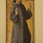 Rieti, Museo Civico, Antoniazzo Romano, San Francesco, tavola, 173x61,5