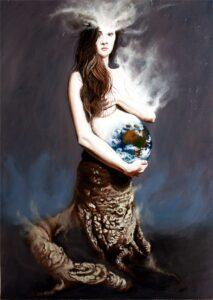 Alessandro Bulgarini, Grande Madre 2 – olio su tavola – cm 50 x 70 - 2012