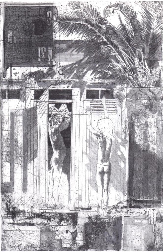 Calandri - Bagni lido, 1969, acquaforte su zinco cm 49 x 32