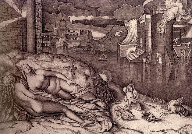Marcantonio Raimondi, Il sogno di Raffaello
