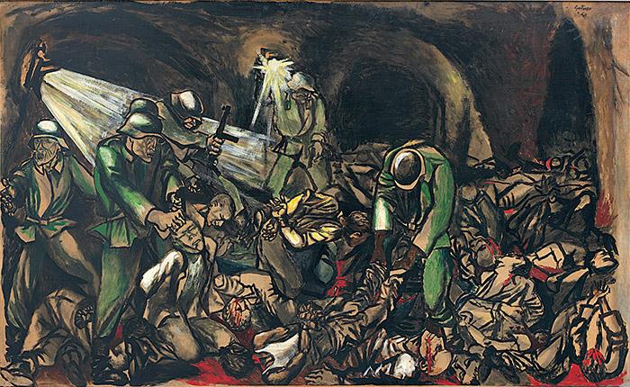 Renato Guttuso, Fosse Ardeatine, 1950, Collezione Luciano Lenti , Valenza (AL)