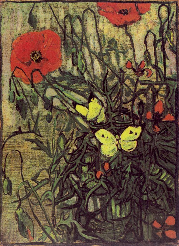 Vincent van Gogh, Papaveri e farfalla