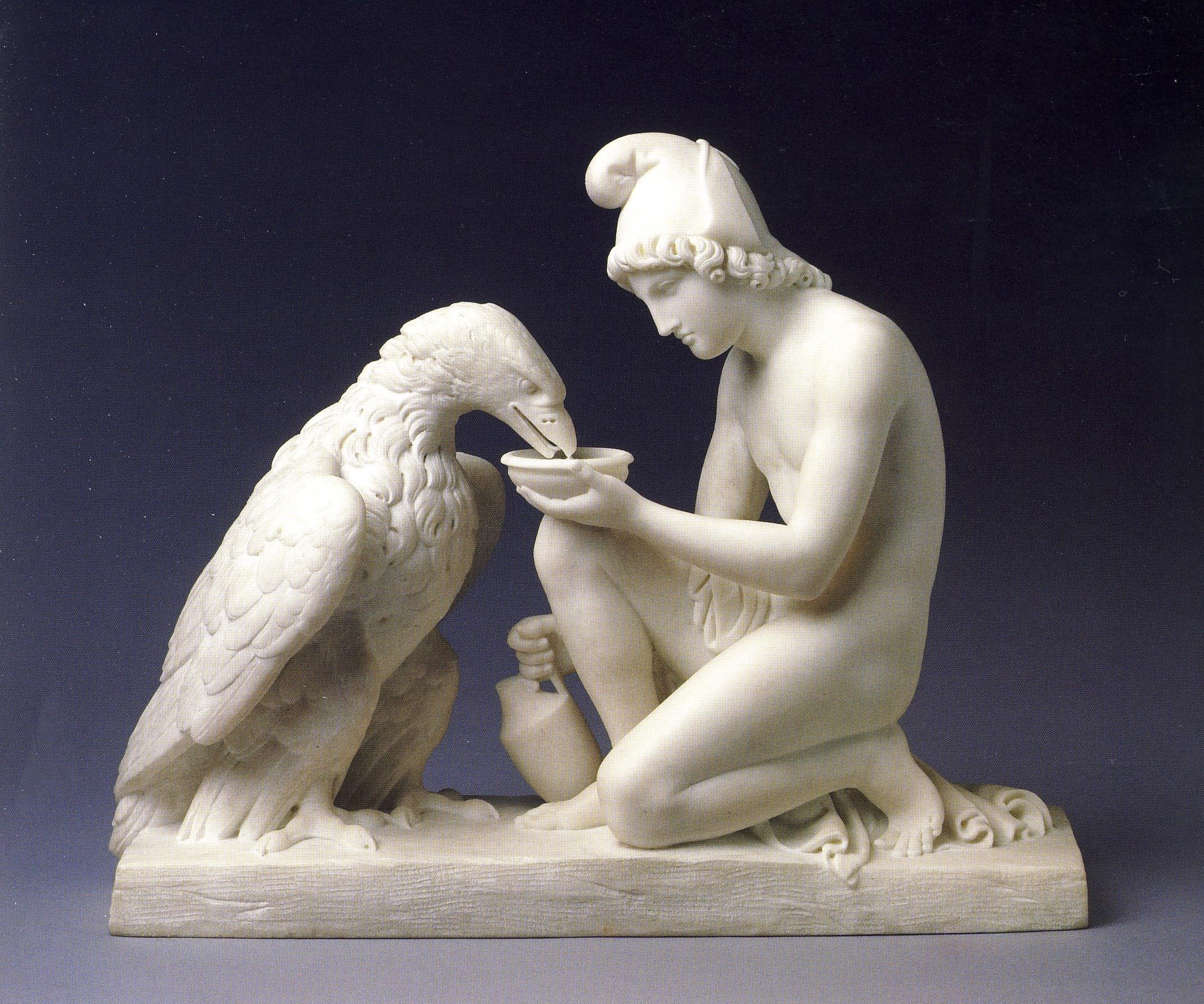 B. THORWALDSEN, Ganimede con l'aquila di Giove (intero),1814, marmo, h.44 cm., Brescia, Musei Civici