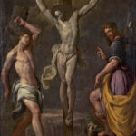 crocefissione con santi Sebastiano e rocco_bertolotto