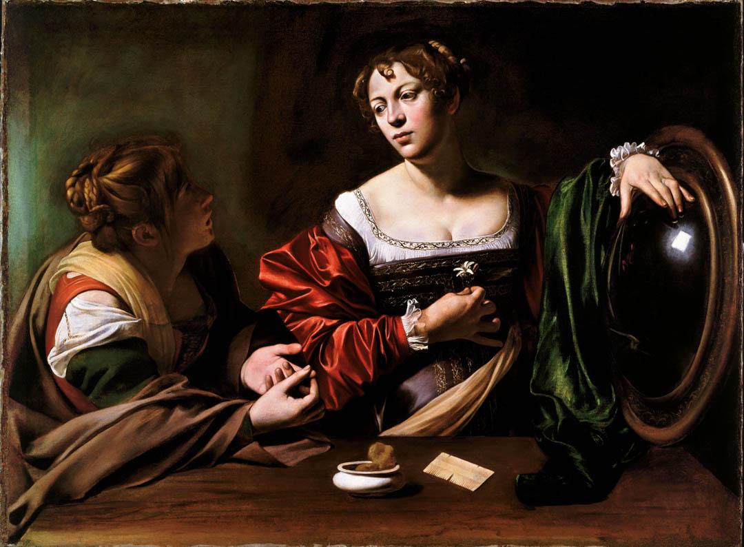 Caravaggio, Marta e Maddalena, uno dei dipinti di Detroit