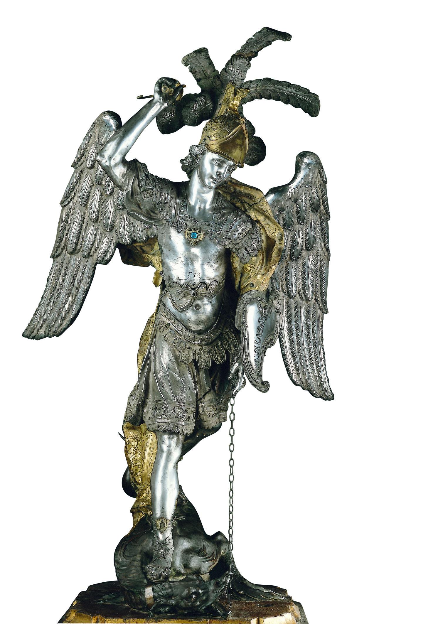 Gian-Domenico-Vinaccia-San-Michele-Arcangelo-1691-argento-bronzo-bronzo-dorato-rame-dorato