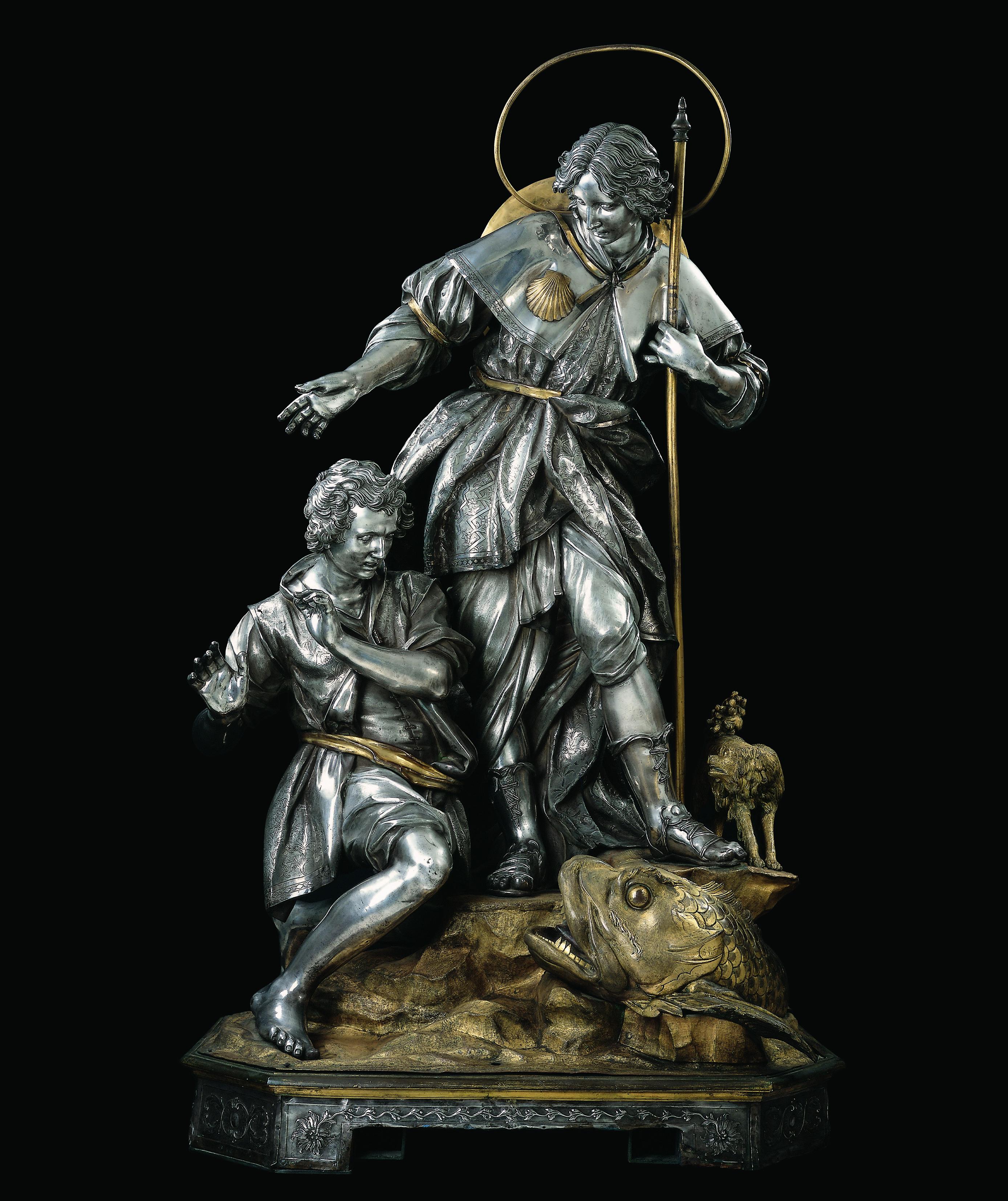 Giuseppe-Del-Giudice-Tobiolo-e-lAngelo-detto-San-Rafaele-1797-argento-fuso-sbalzato-cesellato-rame-bronzo-dorato
